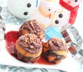 Muffins some sweet christmas with chocolate Royalty Free Stock Photo