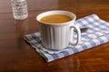 Mug of Bean Soup in Window Light Royalty Free Stock Photo