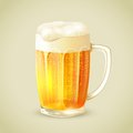 Mug of beer emblem cool glass cold golden with foam vector illustration Royalty Free Stock Photo