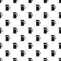 Mug of beer pattern, simple style Royalty Free Stock Photo