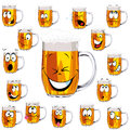 Mug fresh beer cartoon Stock Photos