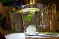 A mug of fresh water with lemon Royalty Free Stock Photo