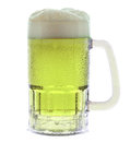 Mug of Green Beer on White Stock Images