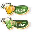 Mug of Irish beer Royalty Free Stock Photography