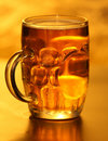 Mug of lager beer  Stock Photo