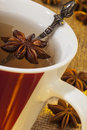 Mug of spiced tea a hot with star anise which has an aniseed flavor Royalty Free Stock Photography