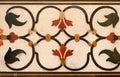 Mughal stone art on the facade of the Taj Mahal Royalty Free Stock Photo