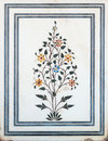 Mughal stone art Royalty Free Stock Photo