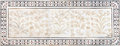 Mughal stone art, Taj Mahal, India Royalty Free Stock Photo