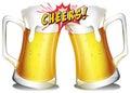 Mugs of beers