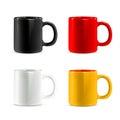 Mugs vector icons
