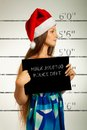 Mugshot of Santa helper Royalty Free Stock Photo