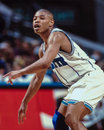 Mugsy bogues charlotte hornets point guard image taken from color negative Royalty Free Stock Photos