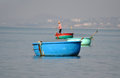 Vietnamese fisher fishing in Mui Ne, Vietnam Royalty Free Stock Photo