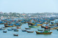 Mui ne vietnam february mui ne is a very popular tourist attraction in vietnam a lot of local fishing boats have a day rest till Stock Photos