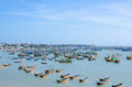Mui ne vietnam february mui ne very popular tourist attraction vietnam lot local fishing boats have day rest till night february Royalty Free Stock Images