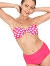 Mujer atractiva pin up model en un bikini Imagen de archivo