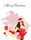Mujer de la Navidad Imagenes de archivo