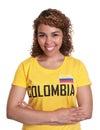 Mujer joven de colombia con los brazos cruzados Fotografía de archivo libre de regalías
