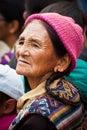 Mujer tibetana en el festival popular la india ladakh Imagenes de archivo
