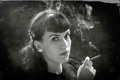 Mujeres retras con el cigarrillo Imagen de archivo