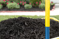 Mulch in Wheelbarrow Royalty Free Stock Photo