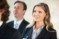 Mulher de negócios listening to speaker na conferência Fotos de Stock Royalty Free