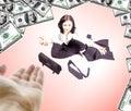 Mulher de negócio que pede a ajuda Imagem de Stock