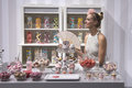 image photo : Candy Shop with beautiful Woman