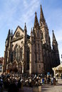 Mulhouse cathedral ancient church in with ancient buildings like strasbourg in france Stock Image