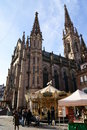 Mulhouse dome ancient church in with ancient buildings like strasbourg in france Royalty Free Stock Images