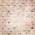 Mulit-color decorative heart valentines pattern Royalty Free Stock Photo