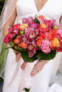 Muliticolored bride's bouquet Stock Images
