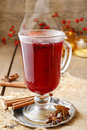Mulled wine - a beverage made with red wine Royalty Free Stock Photo