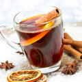 Mulled wine decoration with close up Royalty Free Stock Photos