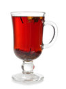 Mulled wine glass cup with on white background Royalty Free Stock Image