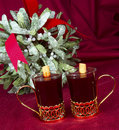 Mulled Wine med mistletoen Royaltyfria Foton