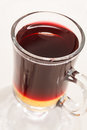 Mulled wine on the white Royalty Free Stock Photography