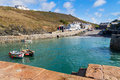 Mullion cove cornwall the small boat harbour at england uk europe Royalty Free Stock Images