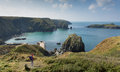 Mullion Cove Cornwall UK the Lizard peninsula Mounts Bay near Helston Royalty Free Stock Photo