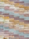 Multi-color bricks wall pattern, Stone wall decorative modern style Royalty Free Stock Photo