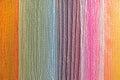 Multi color fabric in a row
