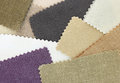 Multi color fabric texture samples Stock Photography