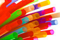 Multi color flexible straws abstract accessories Stock Photography