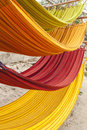 Multi-color hammocks Royalty Free Stock Photo
