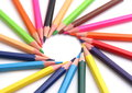 Multi Color pencils Royalty Free Stock Images