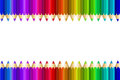 Multi color pencils set on white background Royalty Free Stock Photography