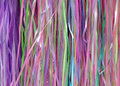 Multi-color purple pink yellow green ribbons background
