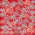Multi-color Roses on red background