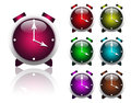 Multi-colored alarms Royalty Free Stock Photo